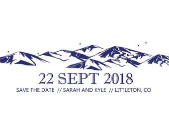 Mountain Themed Save the Date