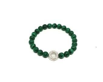Malachite bracelet.