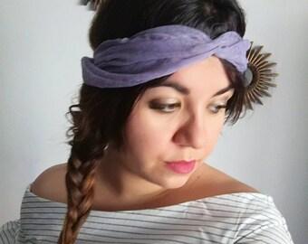 Purple chiffon headband