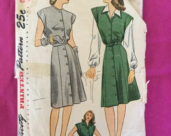 1940s Dress, Jumper, and Blouse Pattern