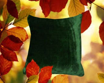 Cuddle cushion cover Dark green gloss different sizes of choice