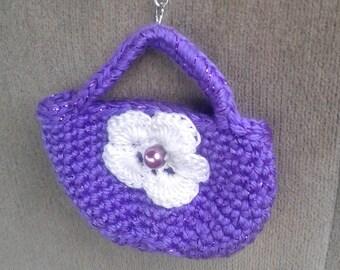 Crochet Purse keychain