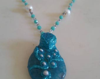 Turquoise Kraken Necklace