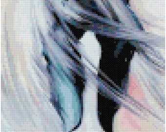 Horse Head Counted Cross Stitch Pattern PDF Download