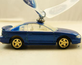 FREE SHIPPING - Valentines Ornament - 96 - 1996 Ford Mustang GT - Birthday