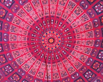 Indian Block Print, Tapestry Wall Hanging, Boho Decor Mandala Tapestry, Bohemian Decor, Wall Decor Bedroom, Decor Dorm Decor Wall Tapestries