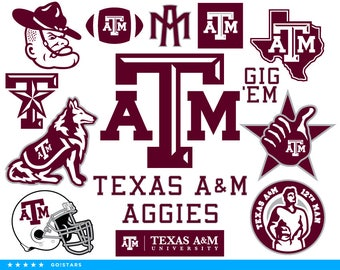 Aggies svg – Texas A&M svg – Aggies clipart – Texas A and M clipart – AM svg – raster, vector files – svg pdf png dxf eps