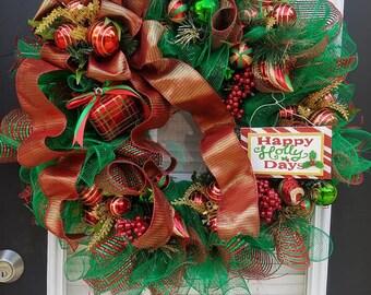 Happy Holly Days Wreath