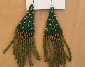 Handmade Colorful Seed Bead Dangling Earrings