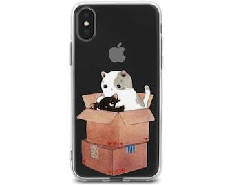 cute cat iPhone X kawaii cat iPhone 10 case cat iphone 5 case iPhone 8 plus case cat iphone 6 case Case for Phone cat iphone 8 case iPhone5s