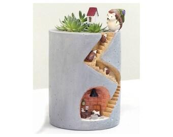 Fairy Garden Planter | Succulent Plants Pot | Micro-landscape Flowerpot| For Fairies & Gnome Homes