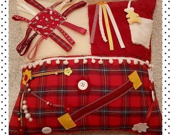 Fiddle Cushion, alzheimers/dementia cushion for busy fingers. Sensory activity Cushion. Autism ADHD Fidget Cushion, Activity Aid Therapy