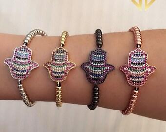 Crystaldust Hamsa Bracelet