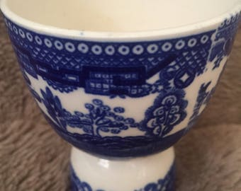 Vintage Blue and White Japanese Egg Cup