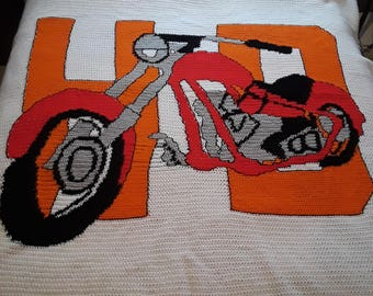 Harley Davidson Initials with Motorcycle