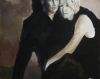 Kelly&Brandon Beverly Hills 90210 Original Oil Painting