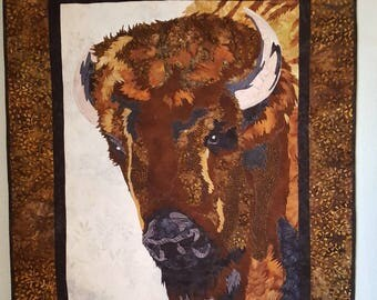 The Bison fabric applique