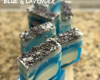 Riptide bar/essential oil/soap/melt and pour/blue/deep blue/ocean/gifts/lemon/lavender/goats milk