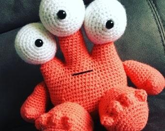 Handmade crochet monster