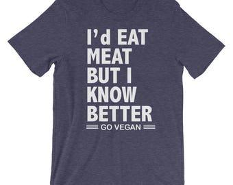 Go Vegan Tshirt, Vegan Activist, Unisex vegan tee, Vegan Graphic Tee