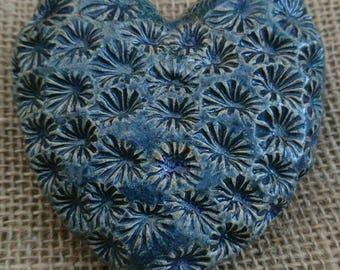 Handmade ceramic rustic and textured keepsake/ornament heart.