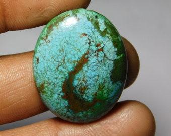 Amazing Tibetan Turquoise loose gemstone Excellent cabochons gemstone 100%natural gemstone smooth polish handmade 38.10cts (32x25x6)mm