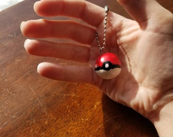 Large (1.5 Inch) Pokeball Keychain