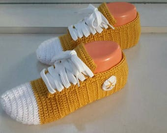 handmade knitted socks slippers
