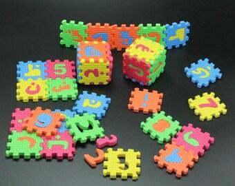 Arabic Foam Puzzle Letters