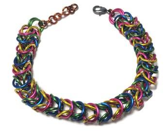 Multi-color Box Link bracelet