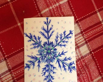 Snowflake Christmas Card