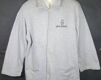 Vintage Gianni Valentino Italy Sweatshirts/ Polo/ Spell Out Button Up