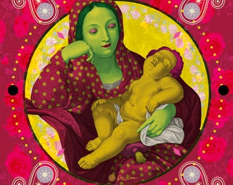 Our Lady, Digital art, Digital Art, icon, print, Illustration, frame for frame, decorative frame, gift, creative gift