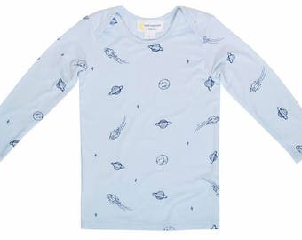 Bamboo-Long Sleeve Top- Blue Space