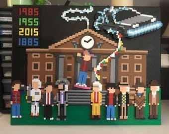 Back to the Future Perler Bead Pixel Art