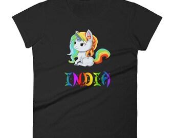 India Unicorn Ladies T-Shirt