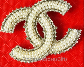 Gorgeous White Pearls Chanel Pin Brooch