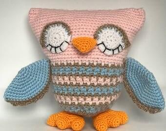Sleepy Owl pillow pal