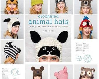 Crochet Patterns| PDF| Crocheted Animal Hats| Colorful Patterns | Instant Download | Digital | Ebook | Crochet Book | Patterns for Woman