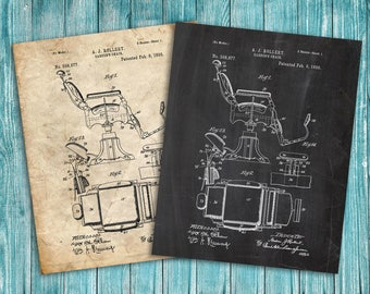 Barber Chair Patent, 1898 Barber Chair Poster, Barber Chair Print, Barber Chair Art, Barber Chair Decor, Barber Chair Blueprint,Barber Gifts