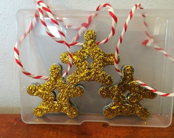 Christmas tree decorations (set of 3) Hand Made From Recycled Bicycle Chain