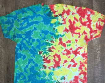 Iced tie dye. After the blast