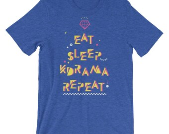 Eat Sleep K-drama Repeat Tshirt Tee Top, Korean Drama Fan Gift, Kdrama Lover Addict Fangirl, Boys Over Flowers, Kdrama Gift for Her