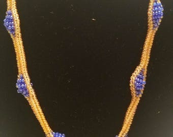 Gold and blue neacklace