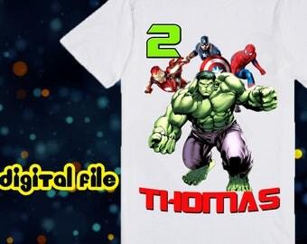 Iron On Transfer Avenger Birthday Shirt, Avenger Iron On Transfer, Avenger Birthday Boy Iron On Transfer, Personalize