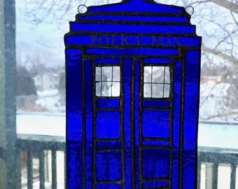 Doctor Who Stained Glass Tardis