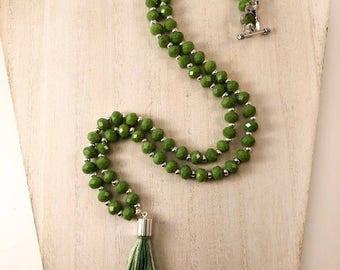 Limelight Tassel Necklace