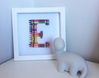 Personalised crayon frame