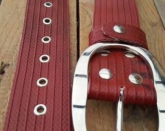 """Rough belt made of used firehose Type """"Jolinda"""""""