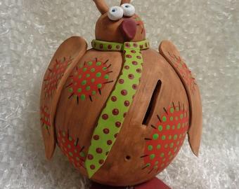 Piggy bank, ceramic, OWL